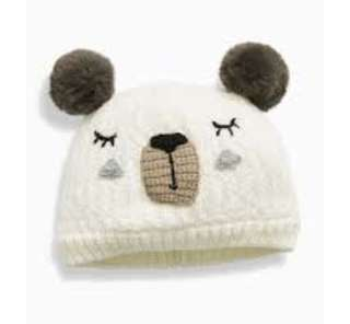 Next UK baby bear beanie