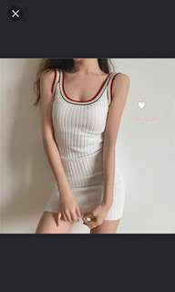 ulzzang rainbow dress