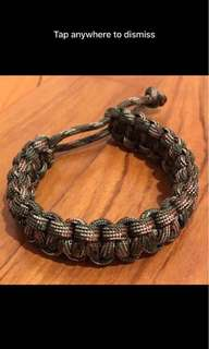 Brand New Military Paracord Camou-Green