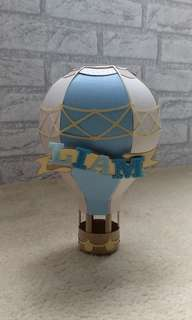 (M.T.O) For Party - Paper Hot Air Balloon - Baby Boy