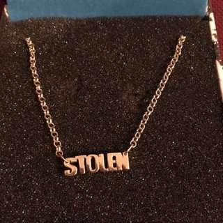 Stolen Girlfriends Club Block Pendant