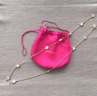 Juicy Couture Rose Gold Star Necklace