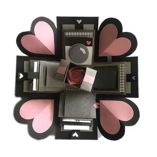 現貨供應 24H出貨❤️手作卡片禮物盒 爆炸禮物盒 9個機關 附贈紙袋