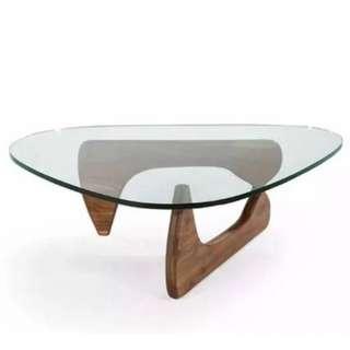 實木簡約北歐鋼化玻璃茶几 名設計大師野口勇 Isamu Noguchi Tea Table Furniture