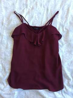 Portmans wine red singlet