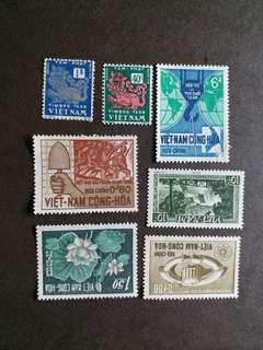 越南郵票新票 7 枚 A001
