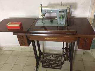 Butterfly sewing machine and table