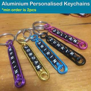 Aluminium Personalised Keychains / Dangles (Wirecraft fob customised gifts Children's Day Teacher's Valentine Raya Christmas) [uncle anthony]  FOR MORE PHOTOS & DETAILS, 👉Http://carousell.com/p/101405144