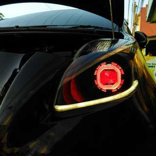 Custom headlamp mobil