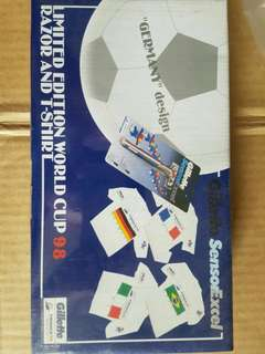 Gillette limited edition Razor and T shirt for World Cup 1998