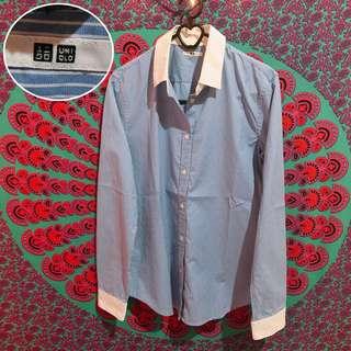 Blue Stripes Shirt by Uniqlo