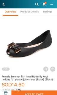 Formal Jelly Women's butterfly shoes in black