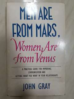 Men are From Mars, Women are From Venice Book by John Gray