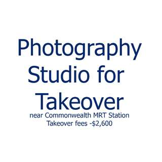 1000 sqf Photography Studio at Commonwealth Drive for takeover