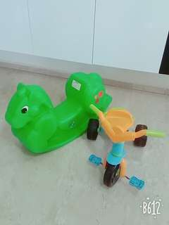 Tricycle & rocking horse