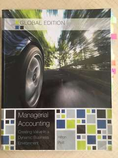 AD2101 Managerial Accounting Tenth Edition Wrapped