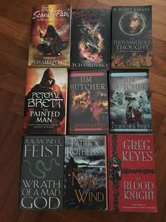 Various fantasy novels