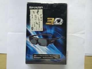 SHARP 3D 眼鏡  充電式 AN-3DG20-B