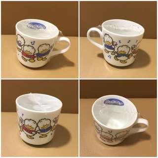 Sanrio Ahiru No Pekkle 鴨仔 1993 年 陶瓷杯 (Made in Japan)  (全新未用過) 直徑 3.125 吋 (** 只限北角地鐵站交收 **)