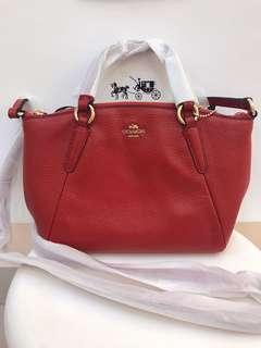 Original coach women mini Sierra handbag sling bag red