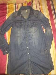 Stradivarius Denim Shirt Dress