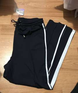 Missguided Navy Striped Joggers