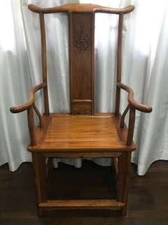 Solid Wood Chair Antique Chinese Emperor Arm Chair