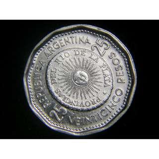 1964年阿根廷共和國慶祝本國貨幣誕生150週年紀念25仙鎳幣