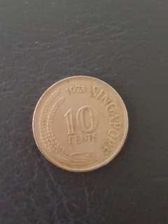 Old Singapore 10 cents coins