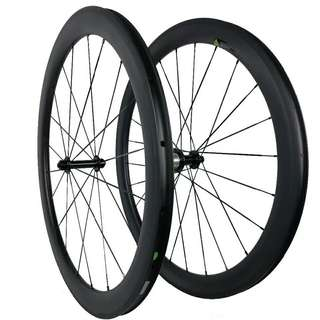 instock Ultra Light 700C 50mm depth 23mm width Clincher Racing Bicycle Carbon Wheelset *negotiable