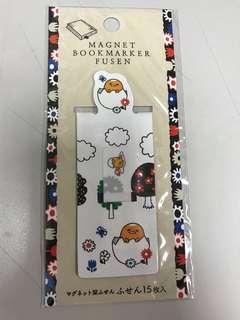 蛋黃哥磁石書簽Magnet bookmarker fusen memo紙