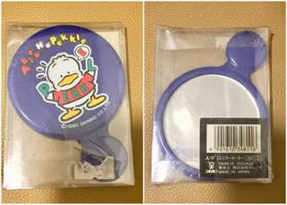 Sanrio Ahiru No Pekkle 鴨仔 1990 年 鏡 (Made in Japan) 3.75 吋高 (** 只限北角地鐵站交收 **)