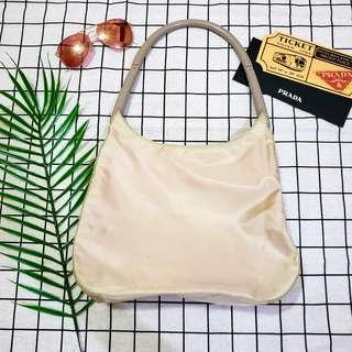 米色 Prada 袋 vintage tote bag chain bag shoulder bag單肩袋返工袋