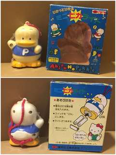 Sanrio Ahiru No Pekkle 鴨仔 1991 年 人形電筒 (3.75 吋高) (正面有變微黃) (** 只限北角地鐵站交收 **)