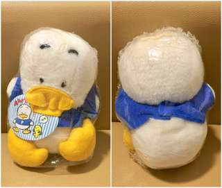 Sanrio Ahiru No Pekkle 鴨仔 1991 年 人形毛公仔 (Made in Japan) 7 吋高 (** 只限北角地鐵站交收 **)