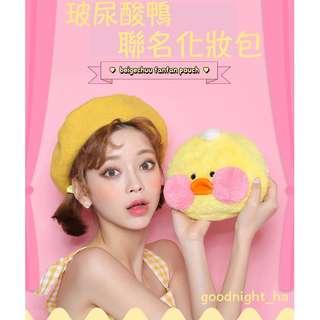 FANFANCHUU POUCH BAG 玻尿酸鴨聯名系列化妝包 ( CHUU 官網代購 ) 玩偶 絨毛 小包 隨身包
