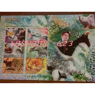 🚚 Harry Potter 哈利波特 -「阿茲卡班的逃犯」 限量紀念郵票 (系列1)~J·K·羅琳、榮恩、妙麗