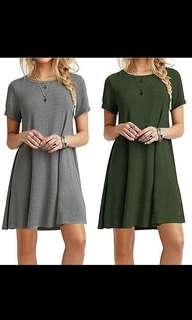 <PO> BASIC COTTON TSHIRT DRESS