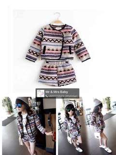 Two Pieces Set Ready Stock 2-8years