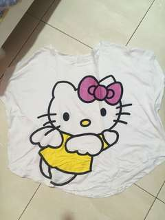 Hello Kitty Batwing Top