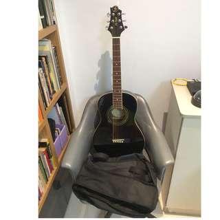 Greg Bennett ST6-1 Black colour with Guitar Bag