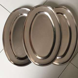 555 oval stainless steel plates