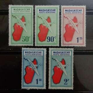 [lapyip1230] 法屬馬達加斯加 1930年 定冀機 航空郵票 新票 Mint