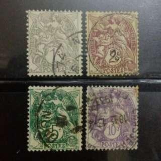 [lapyip1230] 法國 1895年 商貿和航海女神 舊票 VFU