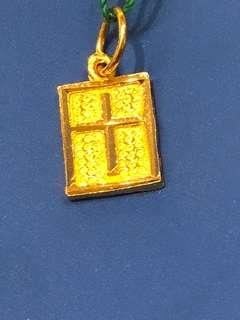 916 Gold Pendant - Cross Design (Gold 916)