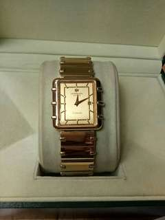 Authentic Raymond Weil Coliseum Unisex 18K Gold Plated Swiss Made