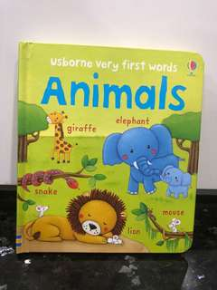 Usborne Children Board Story Book Animals English Pictures