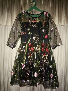 Brand New Korean Embroided Dress