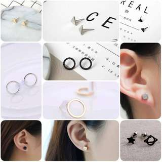 IN Stock Korean Minimalistic Earrings (10 designs available)