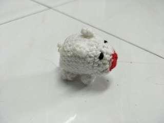 Handmade Knitting White Piggy Toy #Ramadan50